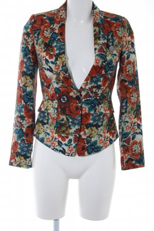 MNG Collection Kurz-Blazer Blumenmuster Business-Look