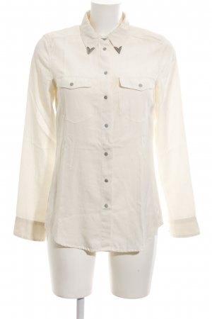 MNG Collection Langarm-Bluse hellbeige Casual-Look