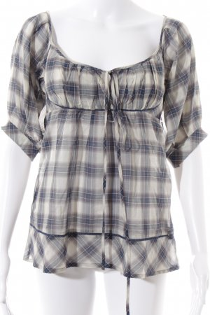 MNG Collection Langarm-Bluse Karomuster Casual-Look