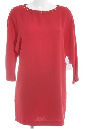 MNG Collection Langarmkleid rot-dunkelrot klassischer Stil