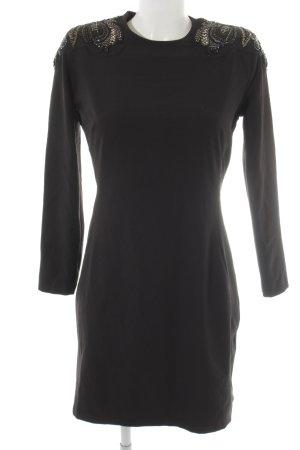 MNG Collection Langarmkleid schwarz Elegant