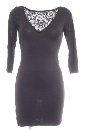 MNG Collection Langarmkleid schwarz klassischer Stil