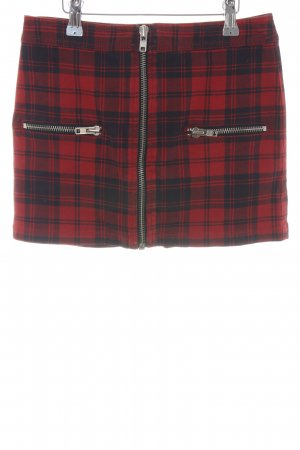 MNG Collection Minirock rot-schwarz Karomuster Casual-Look
