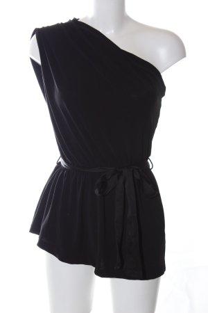 MNG Collection One Shoulder Top black elegant