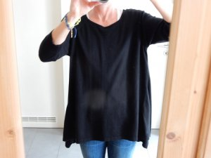 MNG Collection, schwarzer Oversize Pulli mit ¾-Ärmeln, Gr. M