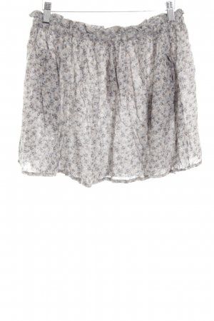 MNG Collection Skater Skirt light grey-cream allover print casual look