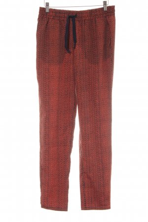 MNG Collection Stoffhose dunkelorange-dunkelblau Punktemuster Casual-Look