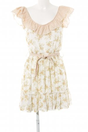 MNG Collection Strandkleid creme-apricot florales Muster Casual-Look