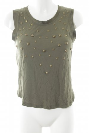 MNG Collection Tanktop khaki-goldfarben Street-Fashion-Look