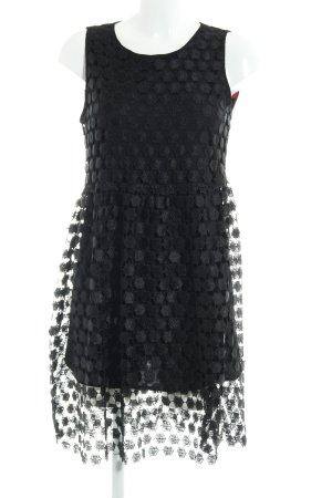 MNG Collection Trägerkleid schwarz grafisches Muster Elegant