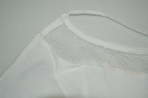 MNG Collection Haut à fines bretelles blanc cassé