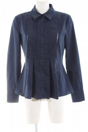 MNG Collection Tweed Blazer blue striped pattern business style