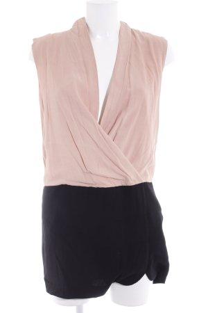 MNG Collection Vestido cruzado nude-negro estilo «business»