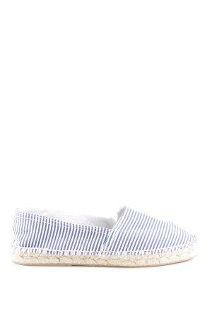 MNG Espadrilles-Sandalen blau-weiß Streifenmuster Casual-Look