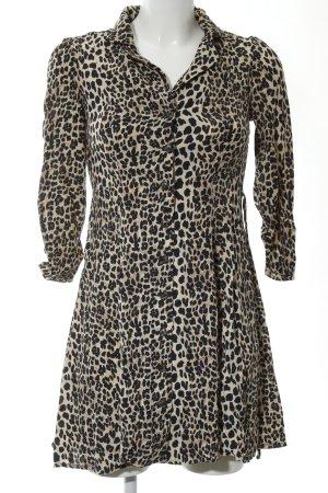 MNG Abito blusa camicia nero-bianco sporco Stampa leopardata stile casual