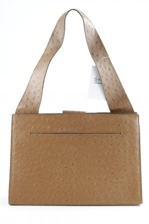 MNG Borsa con manico color cammello motivo astratto stile casual