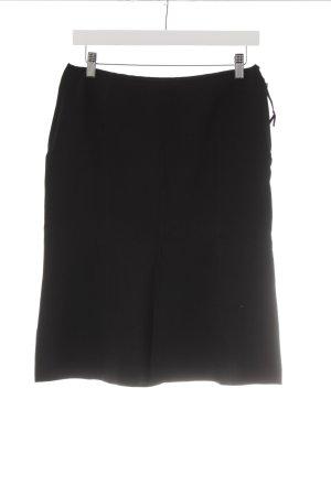 MNG Falda de talle alto negro look casual