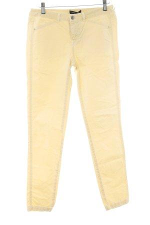 MNG Pantalon taille basse jaune clair style athlétique