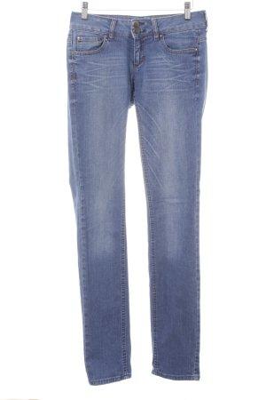 MNG Jeans Pantalon cinq poches bleu foncé-blanc style des années 50