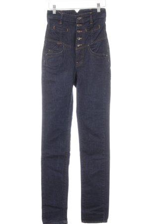 MNG Jeans High Waist Jeans dunkelblau Casual-Look