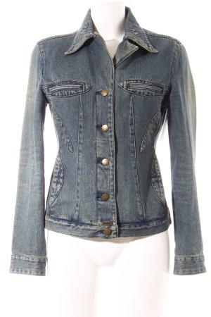 MNG Jeans Jeansjacke blau Street-Fashion-Look