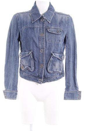 MNG Jeans Jeansjacke blau Used-Optik