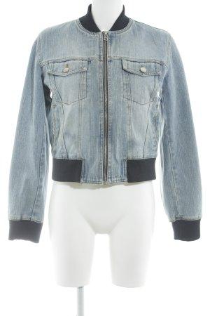 MNG Jeans Spijkerjack lichtblauw casual uitstraling