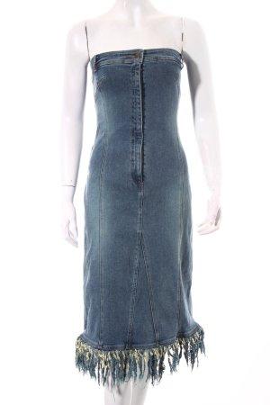 MNG Jeans Jeanskleid hellblau-blassgrün Retro-Look
