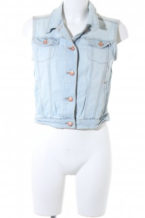 MNG Jeans Jeansweste hellblau Washed-Optik