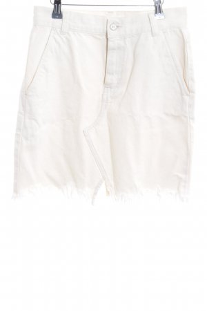 MNG Jeansrock creme Jeans-Optik