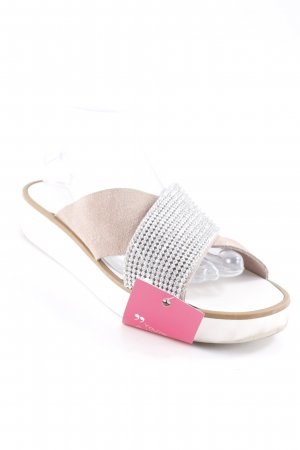 MNG Comfort Sandals silver-colored-beige street-fashion look