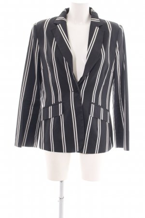 MNG Kurz-Blazer schwarz-weiß Streifenmuster Business-Look