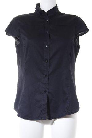 MNG Kurzarm-Bluse dunkelblau Casual-Look