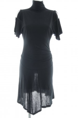 MNG Kurzarmkleid schwarz Elegant
