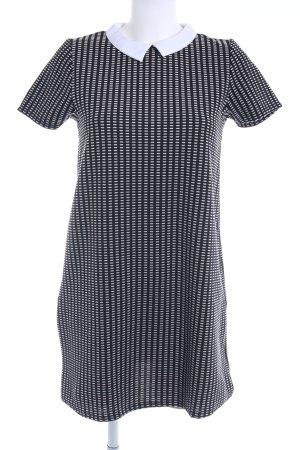 MNG Kurzarmkleid schwarz-weiß 50ies-Stil