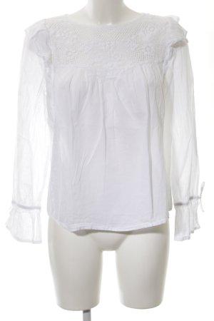 MNG Langarm-Bluse weiß schlichter Stil