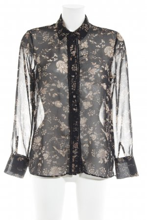 MNG Langarm-Bluse florales Muster Street-Fashion-Look