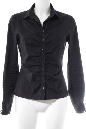 MNG Langarm-Bluse schwarz Elegant