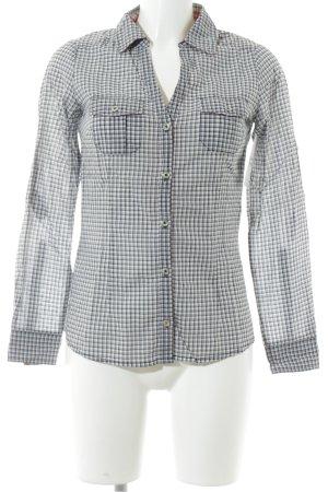 MNG Langarmhemd weiß-dunkelblau Karomuster Casual-Look