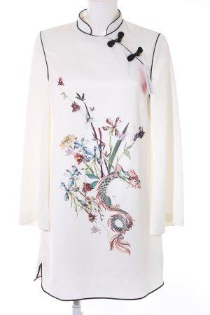 MNG Langarmkleid florales Muster schlichter Stil