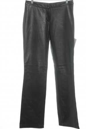 MNG Lederhose schwarz Lack-Optik