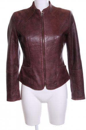 MNG Lederjacke rot Business-Look