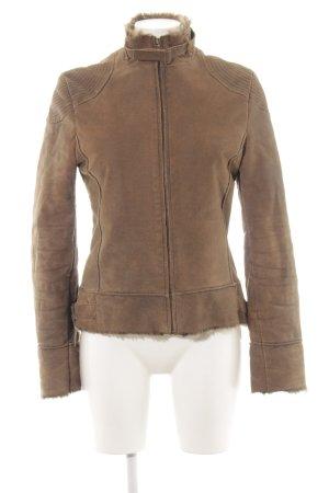 MNG Lederjacke bronzefarben-braun Casual-Look