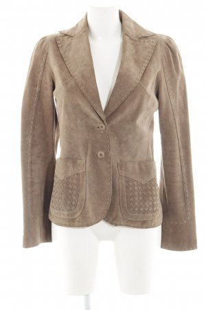 MNG Lederjacke braun Business-Look