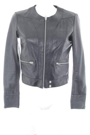 MNG Lederjacke schwarz klassischer Stil