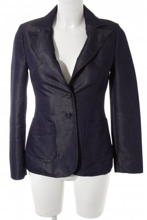 MNG Long-Blazer dunkelblau Casual-Look