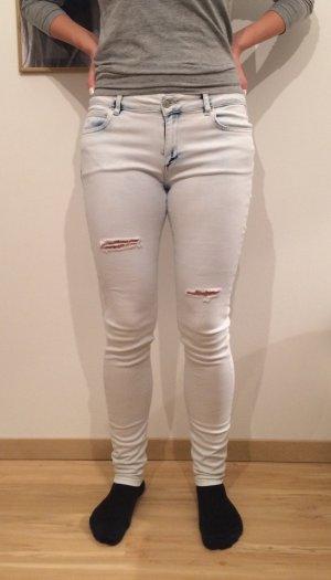 MNG Mango Jeans denimblue jeansblau weiß bleached