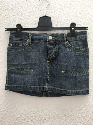 Mango Denim Skirt steel blue-meadow green