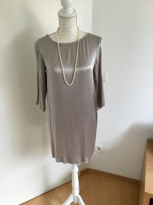 MNG Minikleid in Grau Silber metallisch glänzend