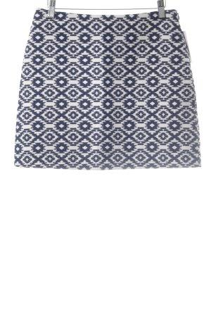 MNG Minirock weiß-blau abstraktes Muster Casual-Look